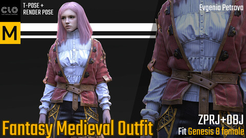 MD. Clo3d project. Medieval Outfit
