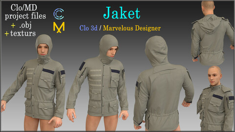 Jaket / Marvelous Designer, Clo3d project