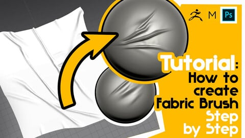 Tutorial: How to create Fabric Folds Brush. Step by Step + DEMO