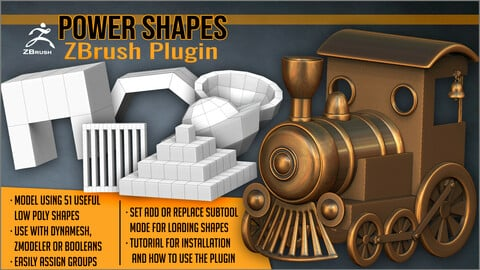 Power Shapes ZBrush Plugin