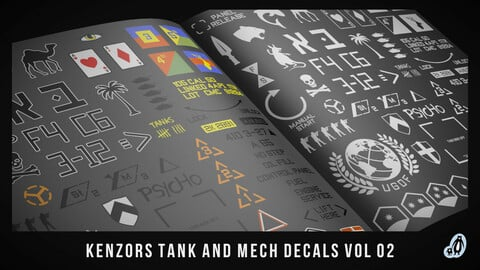 kenzors Tank And Mech Decals vol 2