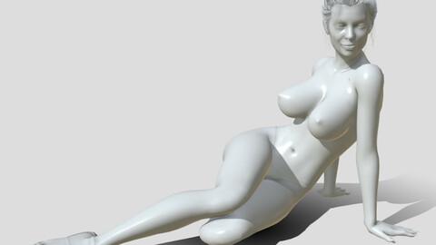 Woman miniature 3d printable