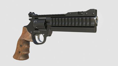 Magnum revolver SUPER SPORT Low-poly 3D model