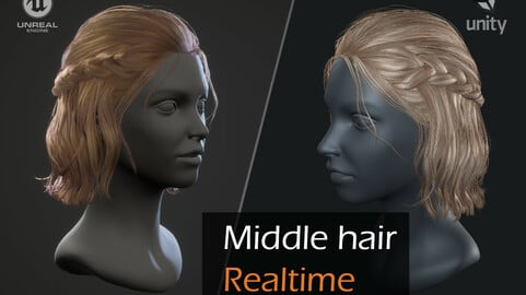 Romantic hairstyle real-time