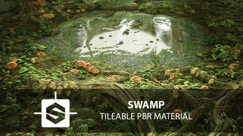 Swamp PBR tileable Material