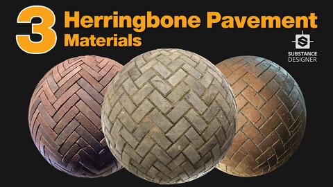 Herringbone pavements - Material pack