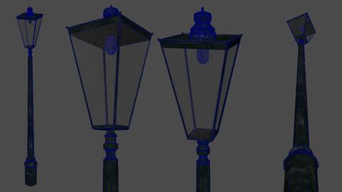 Old Street Lamp 3D Asset