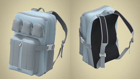 Backpack 3d Model High Poly Clo3d
