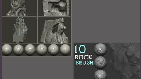 Z brush - Rock Brushes 2 Volumes