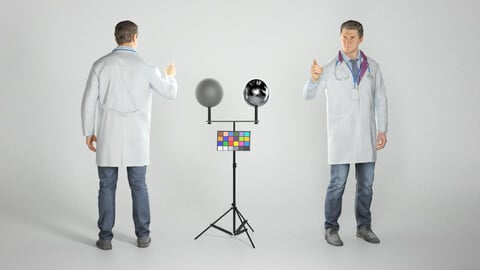 Male doctor pointing at something 279
