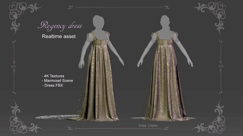 Realtime regency dress