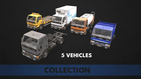 Light Truck Collection - Low Poly