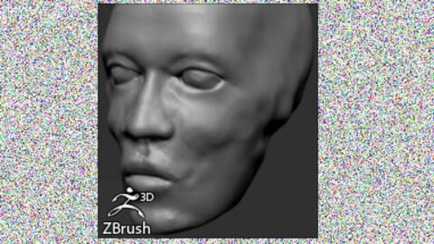 Male Head Basemesh for ZBrush