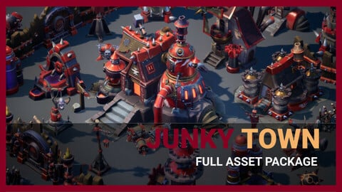 Junky Town Full Asset Package Unity & UE4
