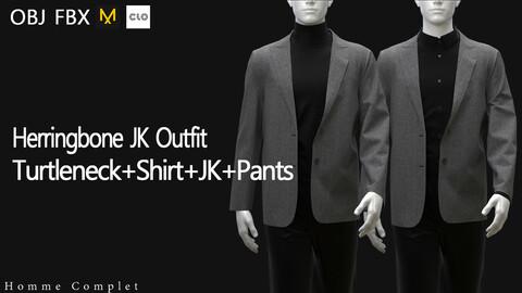 Men's Herringbone Jacket Outfit