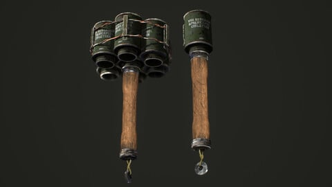 Grenade Steilhandgranate, Hand grenade Germany M24