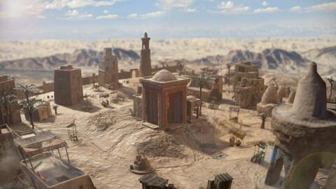 Top-Down Desert Town (RAW+Unity)