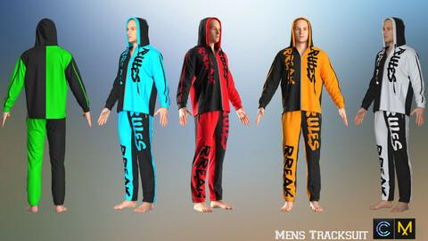 Mens Tracksuit ,Marvelous designer, Clo3d