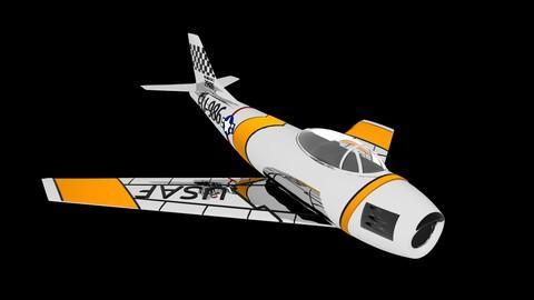 F-86 Sabre Cold War Fighter Jet