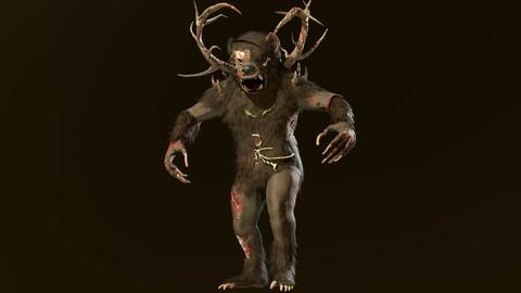 Low-Poly 3D model zombie bear