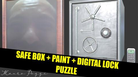 Safe Box and paint puzzle - For Unity FBX 3D.-