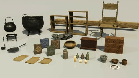 Medieval Witch Asset Pack