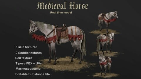 Medieval horse model realtime