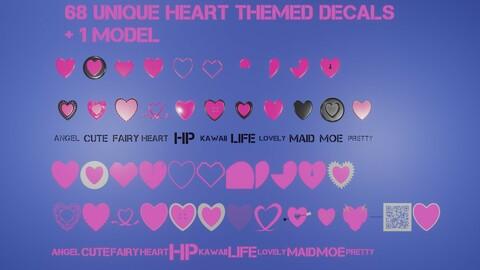 Memento Aurora Heart Decals