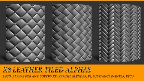 x8 Leather pattern tiled alphas (Braided, rombs etc.)