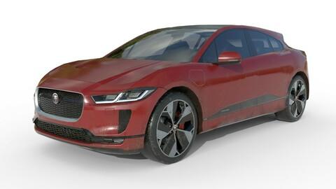 Jaguar I-pace 2021 LOW POLY