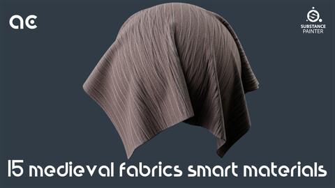 Medieval Fabrics Smart Materials Collection | 15 Smart Materials