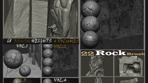 Stone Cracks +ROCK Brushes  5 Volumes