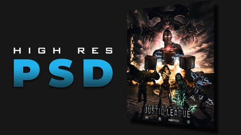 Zack Synder's Justice League (Poster Psd) Full Resolution.