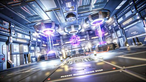 STYLIZED - Sci-Fi Corridor Unity