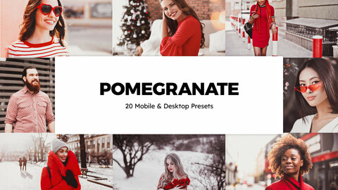 20 Pomegranate LUTs and Lightroom Presets