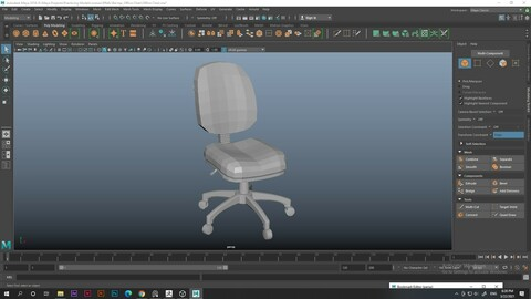 Office Chair - High Poly (unsmoothed)