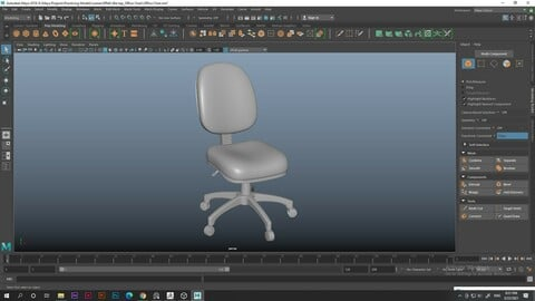 Office Chair - High Poly (smoothed)