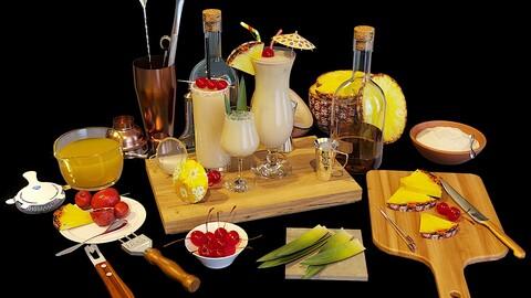 Cocktail Set Pina Colada