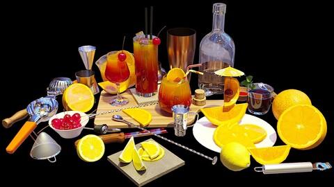 Cocktail Set Tequila Sunrise