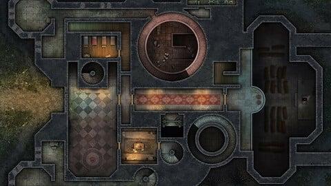 Castle Ravenloft Realistic VTT Maps