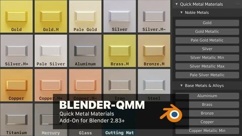 Blender QMM (Quick Metal Materials)