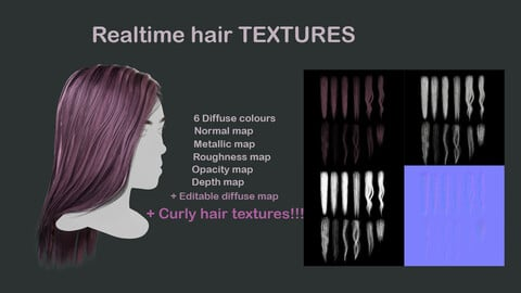 Hair textures + tutorial