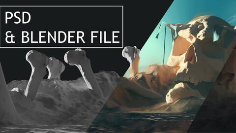 Skull valley PSD and Blender file