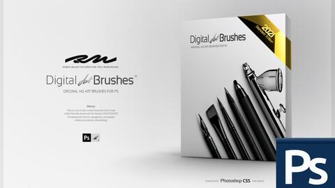 RM ★ Digital ART Brushes ™ 2021 PRO (for Photoshop)