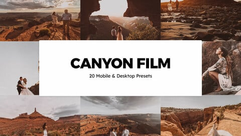 20 Canyon Film LUTs and Lightroom Presets