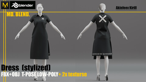 Dress LOW-poly