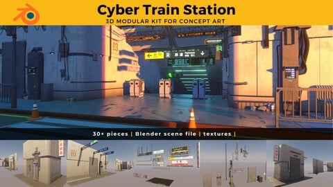 Cyber Train Station Modular Kit