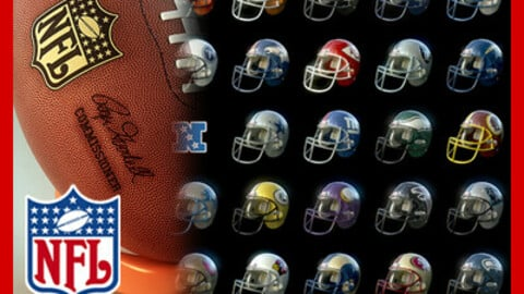 NFL Helmets and Ball Pack