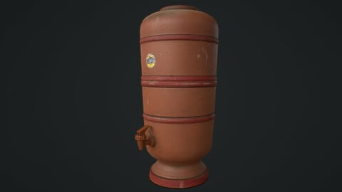 Brazilian Clay filter - PBR Asset Low-poly 3D model Low-poly 3D model