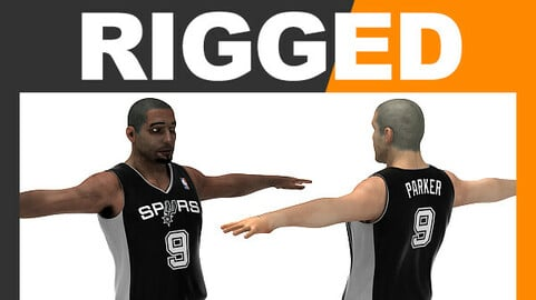 Rigged Basketball Player - San Antonio Spurs